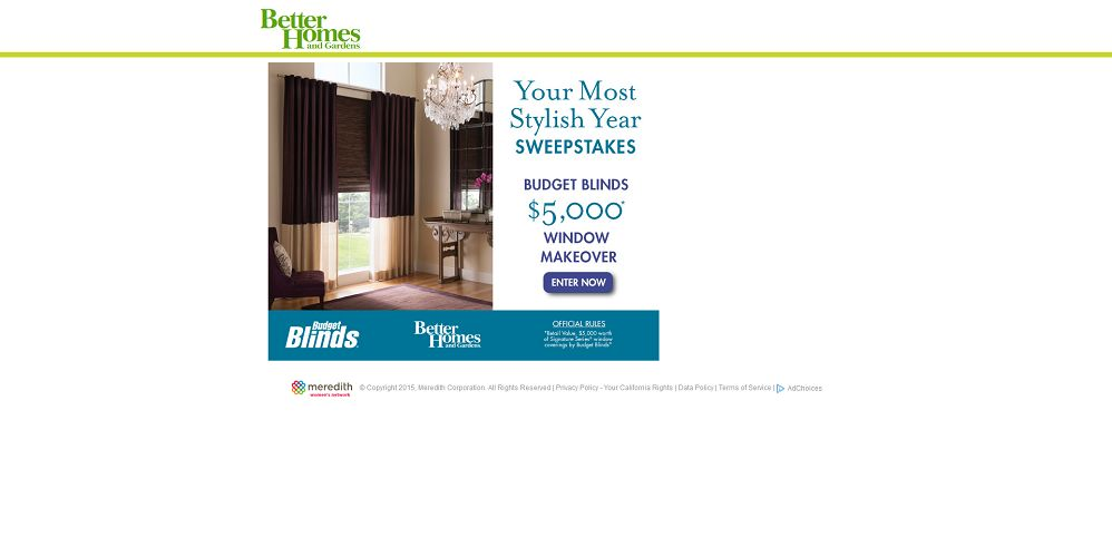 BHG Your Most Stylish Year Sweepstakes