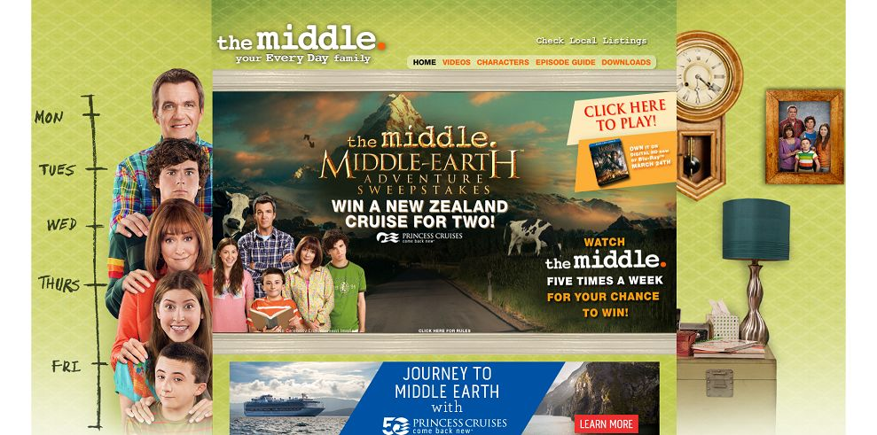 The Middle's Middle Earth Sweepstakes (themiddleweeknights.com)