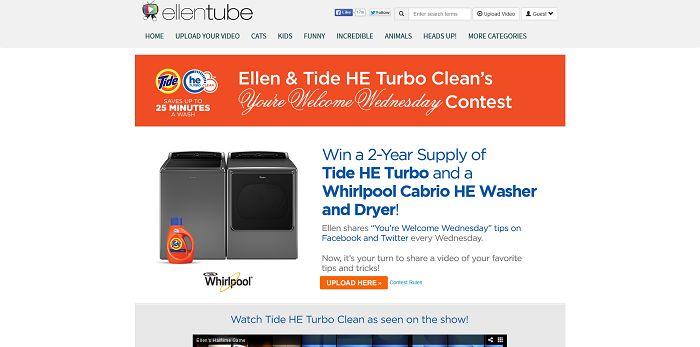 Ellen's You're Welcome Wednesday Contest (EllenTube.com/Tide)