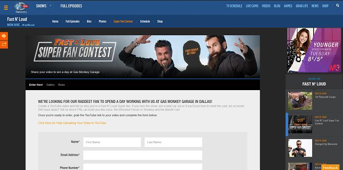 Fast N' Loud Super Fan Contest (FNLSuperFan.com)