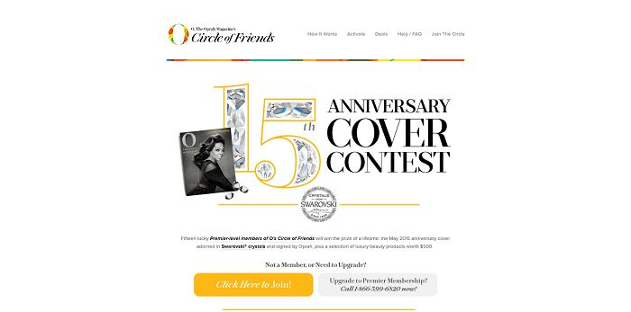 O, The Oprah Magazine 15th Anniversary Cover Contest (OMagCircle.com/Crystal)