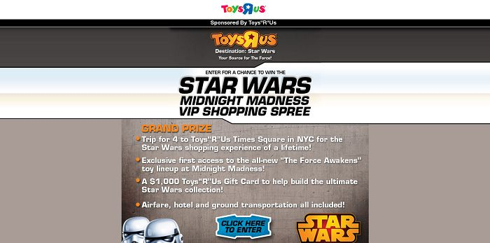 Star Wars Midnight Madness VIP Sweepstakes