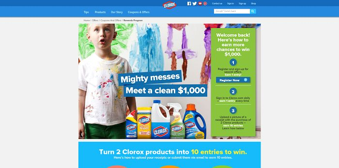 Clorox Clean $1,000 Sweepstakes