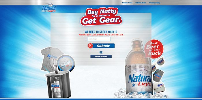 Natty Gear Instant Win Game