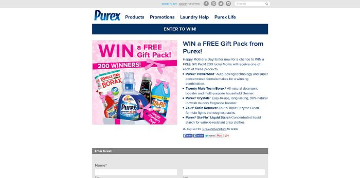 Win A Free Gift Pack From Purex Sweepstakes