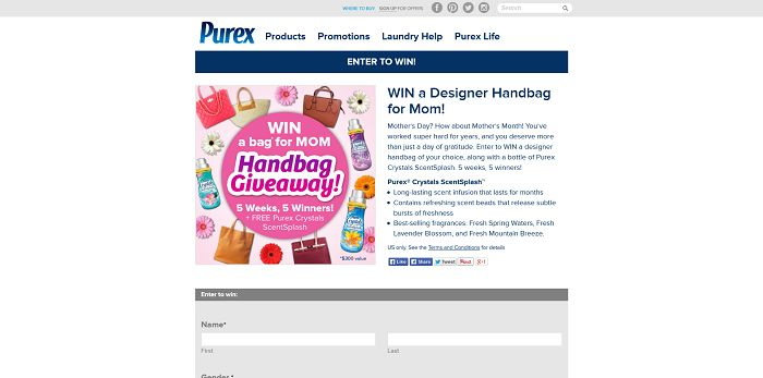 Win A Designer Handbag For Mom From Purex Sweepstakes