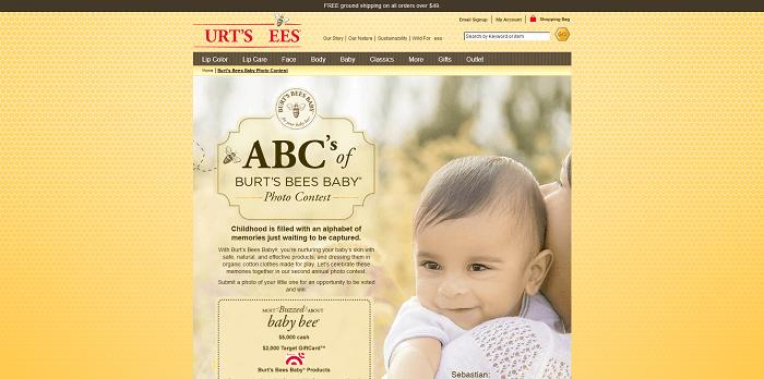 ABC's Of Burt's Bees Baby Photo Contest 2016