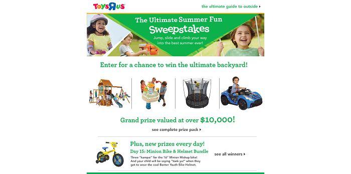PlayOutsideSweeps.com - Toys R Us Ultimate Summer Fun Sweepstakes