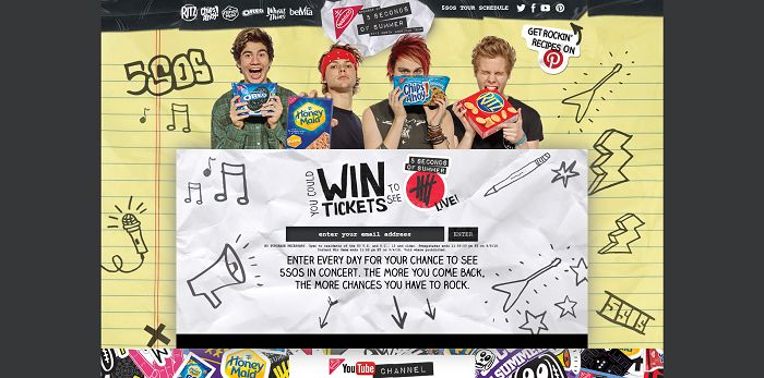 Nabisco5SOS.com - 5 Seconds Of Summer Back To School Sweepstakes And Instant Win Game