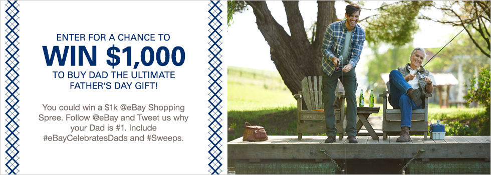 eBay Father's Day Twitter Sweepstakes