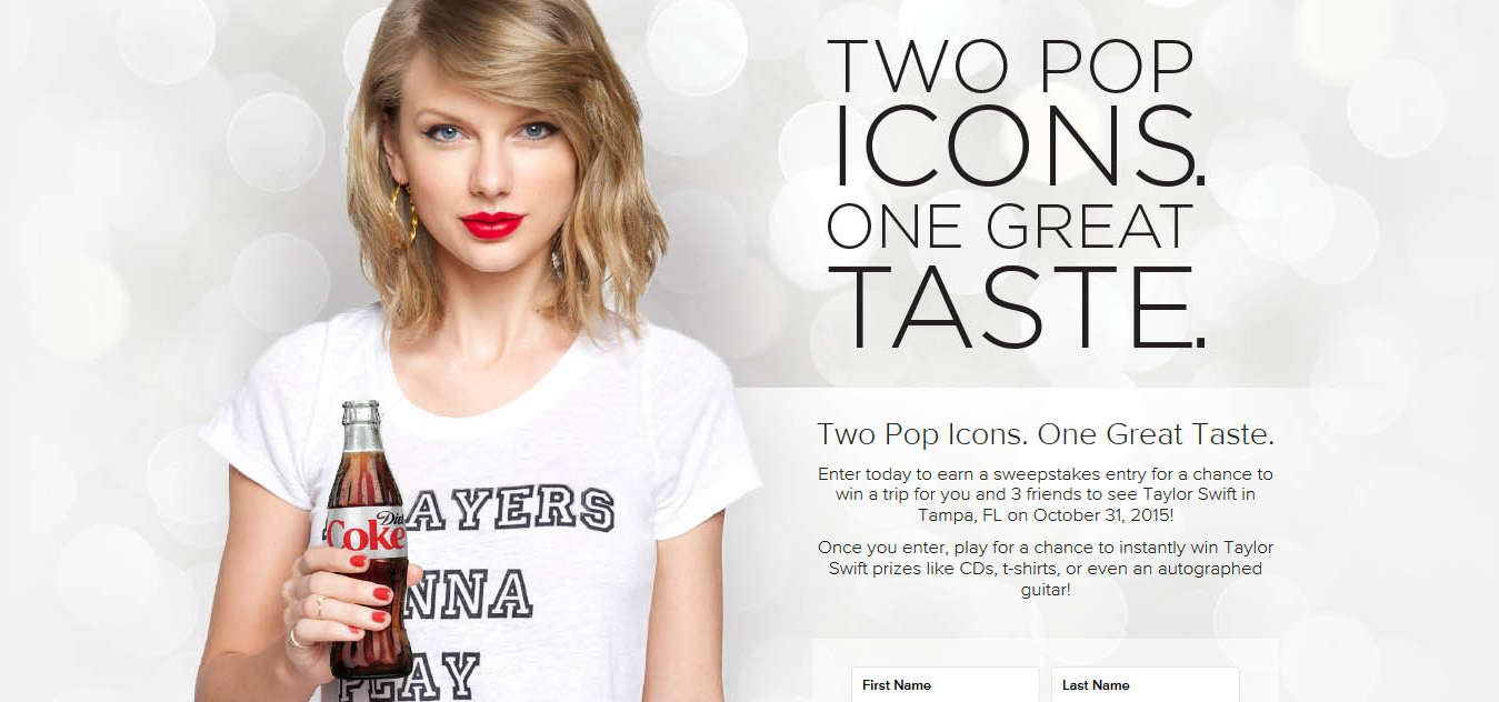 RockOutWithDietCoke.com - Diet Coke Taylor Swift In Concert Sweepstakes And Instant Win Game