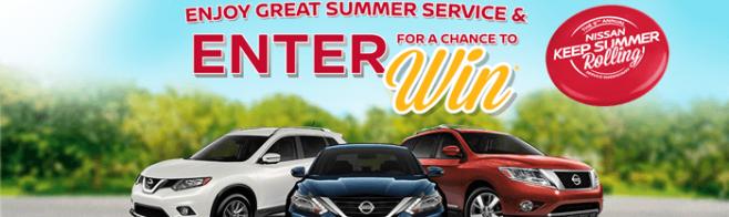 NissanUSA.com/KeepSummerRolling - Nissan USA Keep Summer Rolling Service Sweepstakes 2016