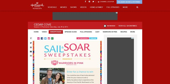 Sail & Soar Sweepstakes