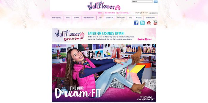 WallFlower Jeans Dare To Dream Contest