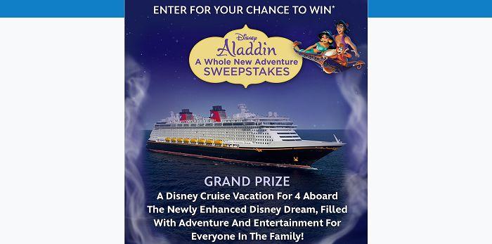 DisneyMovieRewards.com/AladdinSweeps - Disney's Aladdin A Whole New Adventure Sweepstakes