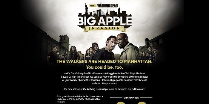 CoxBigAppleSweeps.com - The Walking Dead Big Apple Invasion Sweepstakes