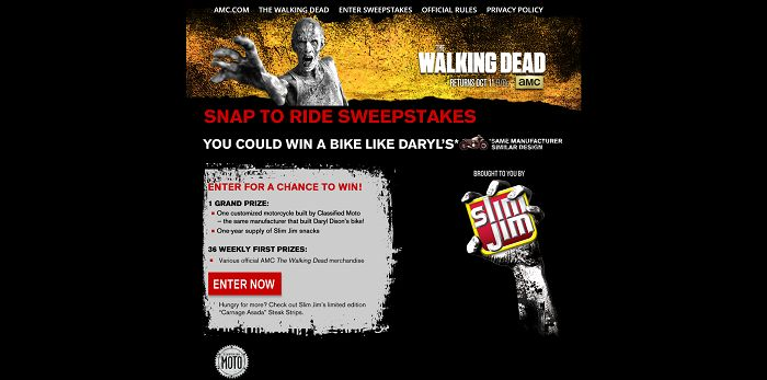 AMC.com/SnapToRide - AMC's The Walking Dead Snap To Ride Sweepstakes