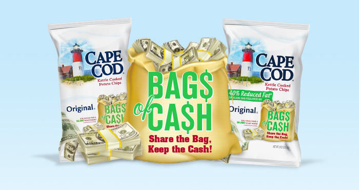 Cape Cod Chips Bags Of Cash Instant Win Game 2016