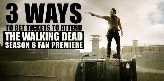The Walking Dead Season 6 Fan Premiere Sweepstakes