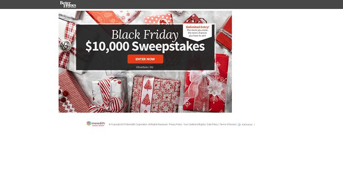 BHG Black Friday $10,000 Sweepstakes (BHG.com/BlackFridaySweeps)