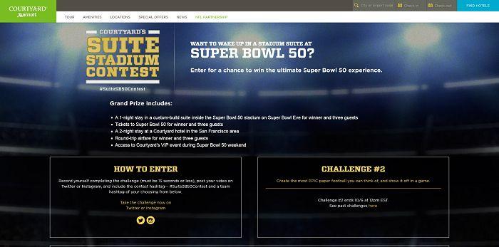 SuiteStadiumContest.com - Courtyard's Suite Stadium Contest