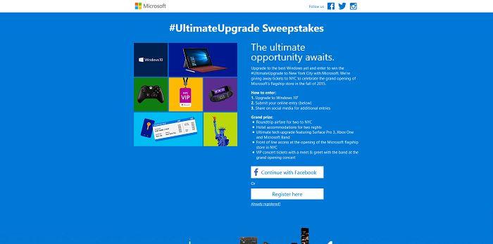 Windows 10 Ultimate Upgrade Sweepstakes (UpgradeTo10Sweeps.com)