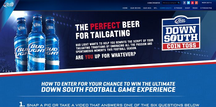 Bud Light Down South Coin Toss On-Premise Promotion