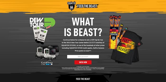 Jack Link's Squatch Feed the Beast Instant Win Game Sweepstakes