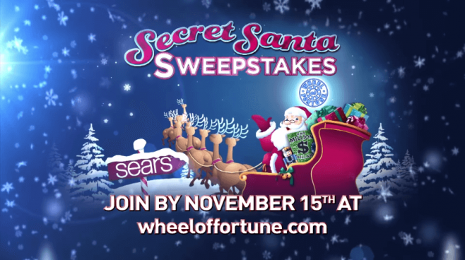 secret santa sweepstakes on wheel of fortune wheel of fortune instant win 2nd chance promotion 5811