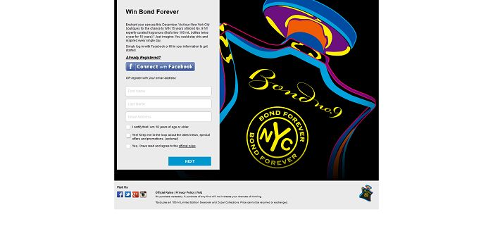 Bond Forever Sweepstakes