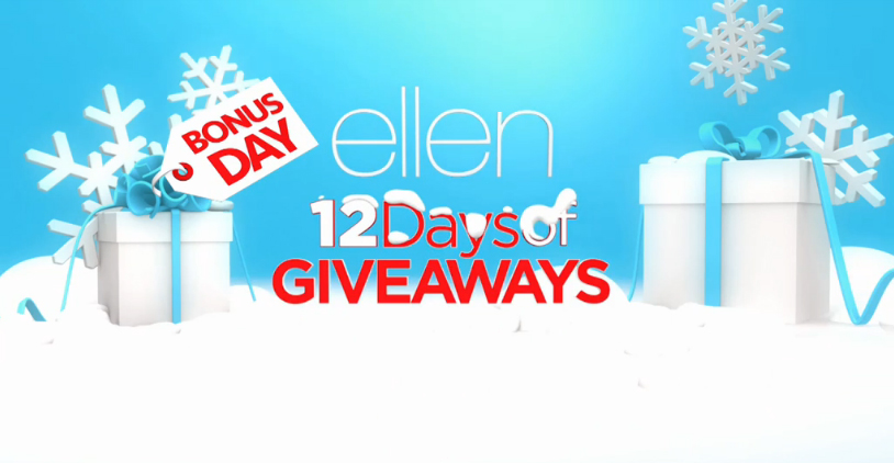 Ellen's 12 Days of Giveaways 2015 Bonus Day