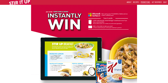 Kellogg's See You At Breakfast Instant Win Game