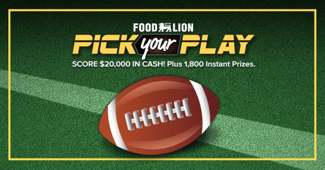 Food Lion Pick Your Play Sweepstakes 2017 (FoodLion.com/PickYourPlay)