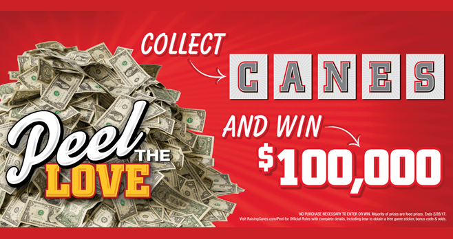Raising Cane's Peel The Love Game 2017 (RaisingCanes.com/Peel)