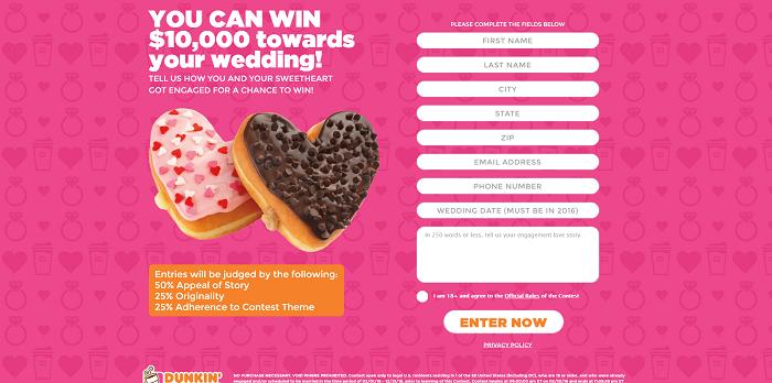 DDHeartsLove.com - Dunkin' Donuts Hearts Love Contest