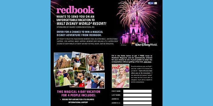 RedbookMag.com/MagicalVacay - Redbook Unforgettable Adventure Sweepstakes