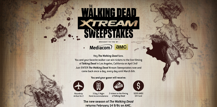 TWDXtreamSweeps.com - The Walking Dead Xtream Sweepstakes