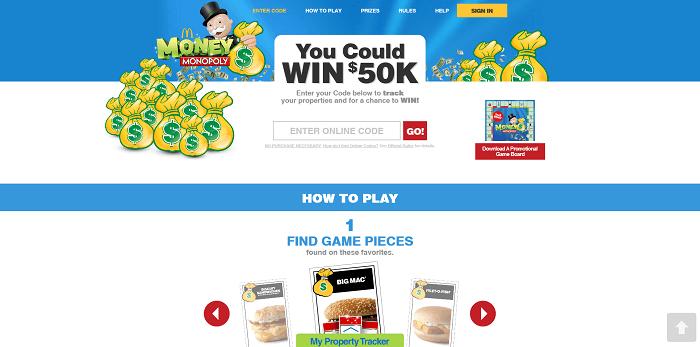 McDonalds Money Monopoly 2016: How To Enter At PlayatMcD.com