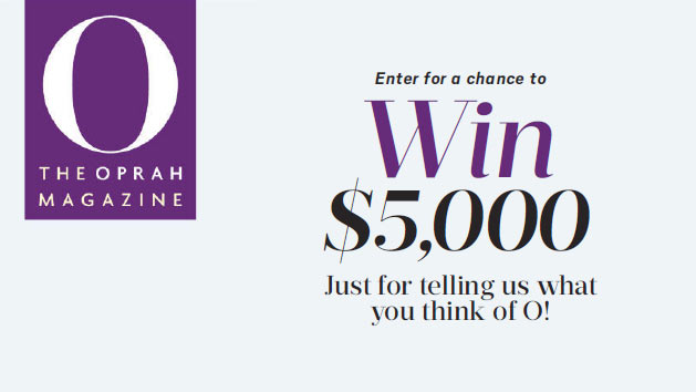 o magazine sweepstakes theoprahmag com april survey sweepstakes 237