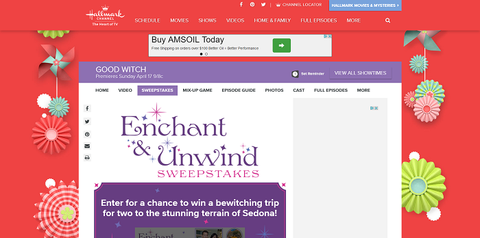 Hallmark Channel Enchant & Unwind Sweepstakes