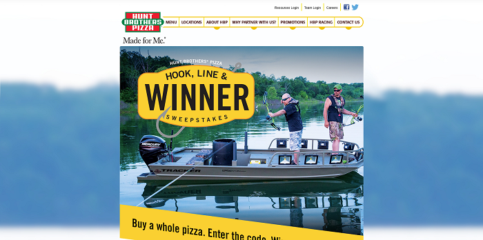 Hunt Brothers Pizza Hook, Line & Winner Sweepstakes