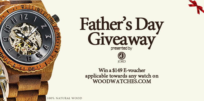 SweepstakesLovers.com Father's Day Giveaway presented by JORD