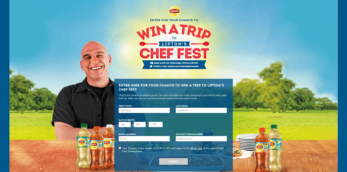 TheChefFest.com Lipton's Chef Fest Sweepstakes