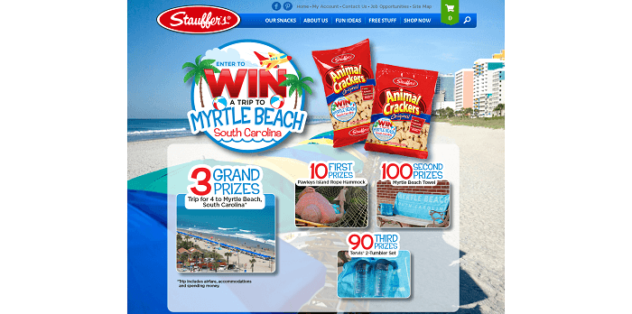 stauffers.com/myrtlebeach - Stauffer's Win a Trip to Myrtle Beach Sweepstakes