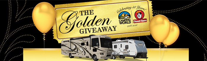 CampingWorld.com/GoldenGiveaway - Camping World Golden Giveaway Sweepstakes