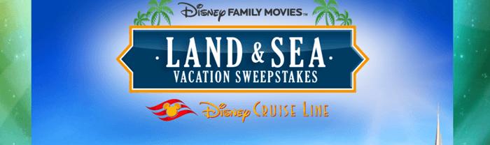 DisneyFamilyMovies.com Land and Sea Vacation Sweepstakes