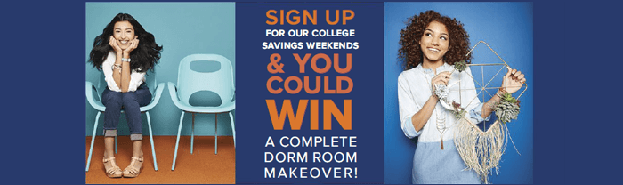 ContainerStore.com/College - Container Store Dorm Room Makeover Sweepstakes