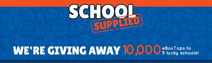 HeftyReynoldsBoxTops.com - School Supplied Sweepstakes