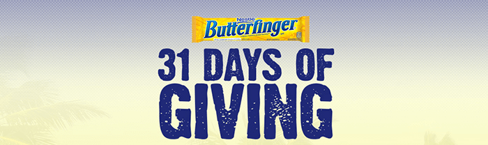 Butterfinger 31 Days of Giving Sweepstakes 2016