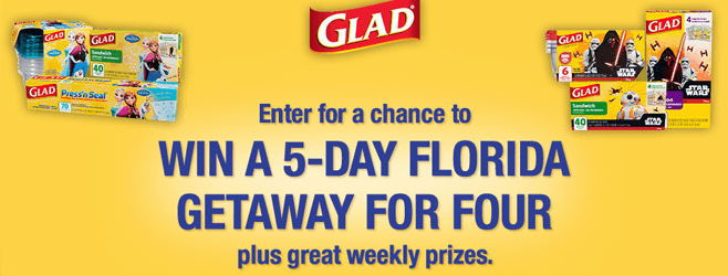 Glad.com/FoodProSweeps - Glad Food Protection Sweepstakes